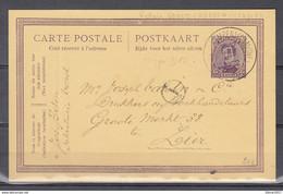 Postkaart Vorst (Kempen) (Campine) (sterstempel) Naar Lier - 1915-1920 Alberto I
