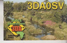 QSL RADIO SWAZILAND AFRICA  DXPEDITION - Radio