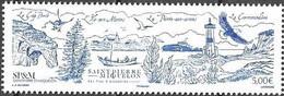 ST. PIERRE ET MIQUELON, SPM, 2021, MNH, LIGHTHOUSES, BIRDS, BOATS, LANDSCAPES, 1v - Other