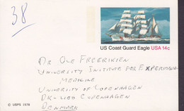 United States Postal Staionery Ganzsache PRIVATE Print MEDICAL CENTER New York 1978 US Coast Guard Eagle - 1961-80