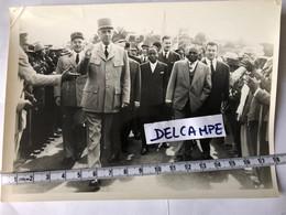 Photo Argentique Visite Général De Gaulle à Tananarive Madagascar - War, Military