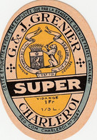 513.CHARLEROI.  SUPER  GRENIER FRERES - Bier