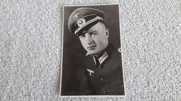 Foto Portrait Offizier Wehrmacht Militär Uniform Postkarte - 1939-45