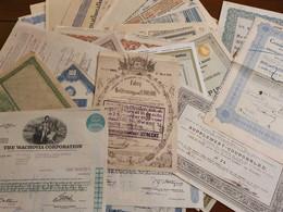 Partij Met 63 Aandelen/Obligaties Uit Diverse Landen En Bedrijven. Periode 1871 - 1988 - - Other