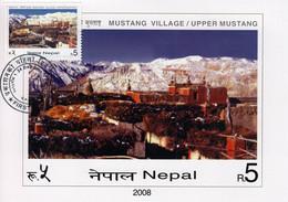 Upper MUSTANG Village MAXIMUM CARD 2008 NEPAL - Non Classés