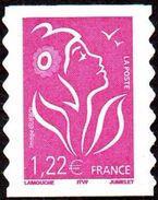 France Autoadhésif N°   53 C **au Modèle 3758 Marianne De Lamouche - Légende ITFV 1.22 Eur. Dentelé Ondulé 2 Cotés - Autoadesivi