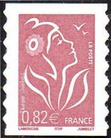 France Autoadhésif N°   53 A ** Au Modèle 3757 - Marianne De Lamouche. Légende ITFV 0.82 Eur. Dentelé Ondulé 2 Cotés - Autoadesivi