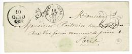 LOIRET - CURSIVE 43 St Ay SUR LSC DU 12 OCTOBRE 1852 + T15 MEUNG-S-LOIRE + DATEUR A + TAXE DT25 - 1849-1876: Periodo Classico
