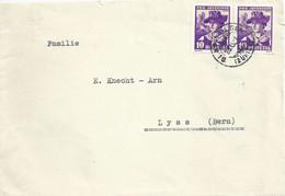 Brief  Glattfelden - Lyss  (PJ Frankatur)         1934 - Storia Postale
