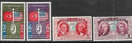 Turkey  1939  Sc#817, 819-21 Constitution  MH  2016 Scott Value $5 - Ungebraucht