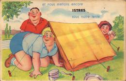 Bouches Du Rhone, Istres, Carte A Systeme   (bon Etat) - Istres