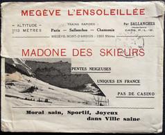 Ancienne Enveloppe MEGÈVE L'ENSOLEILLÉE - L'Isba - 1932 - Sallanches - Chamonix - Pubblicitari
