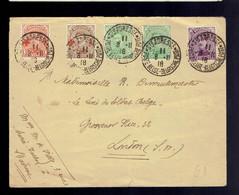COB 137 X 2 + 139 +150 + 151 Lsc Ste Adresse Poste Belge 8 II 18 => London - Altre Lettere