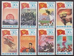 SERIE NEUVE DE COREE DU NORD - 30E ANNIVERSAIRE DE LA FONDATION DU PARTI OUVRIER COREEN N° Y&T 1308 A 1315 - Korea, North
