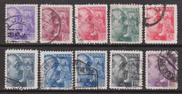 Lote España  Franco Sanchez Toda Usados - 1931-50 Oblitérés