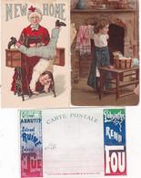 L046............5 CPA PUBS ...carte Absinthe Pli Voir Scan - 5 - 99 Postcards