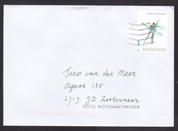 Netherlands: Cover, 2021, 1 Stamp, Darning Needle Insect, Dragonfly, Animal (traces Of Use) - Lettres & Documents