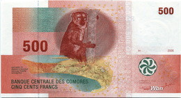 Comores 500 Francs (P15a) 2006 -UNC- - Comoros