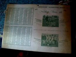 Calendrier Grand Format Association Villeneuvoise Basket Avec Des Pubs Locales  (Villeneuve  Sur Vère ) Tarn Annèè 1981 - Big : 1971-80