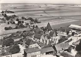 EN AVION AU DESSUS DE SEMOINE - L'EGLISE ET LES ECOLES -BELLE CARTE PHOTO - 2 SCANNS - - Other Municipalities