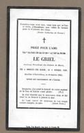 IMAGE PIEUSE..AVIS De DECES MEMENTO.. Amélie-Julie LE GRIEL, Prés. Enfants De Marie, Décédée En 1863, Née à DORMANS (51) - Santini