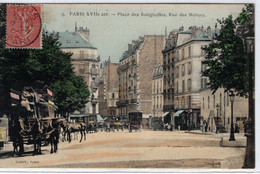75-PARIS- XVII ARR- PLACE DES BATIGNOLES RUE DES MOINES  ANIMEE - Distrito: 17