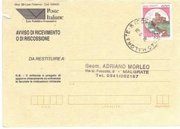 £800 CASTELLI SU AVVISO - 1991-00: Poststempel
