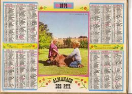 Almanach Des PTT 1974   EURE Thème Enfants Veau - Big : 1971-80