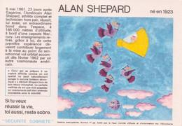 """SANTÉ SOBRIÉTÉ""  LOT DE 3 BUVARDS ÉTAT NEUF (Alan Sheppard;Charles Lindbergh,Youri Gagarine) - S"