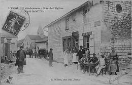 L' ECAILLE -  Café MOTTIN - Rue De L'Eglise - Personnages à Table Et Debout - BEAU PLAN - Other Municipalities