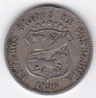 Venezuela 12 1/2 Centimos 1896 , Copper-Nickel, Y# 28 - Venezuela