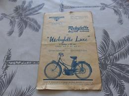 CA-31 , Notice Motobécane, Mobylette Luxe, Type AV3 Et AV3 I - Motor Bikes