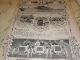 ANCIENNE PUBLICITE LE MEETING MONT VENTOUX 1907 - Altri