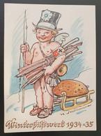 """Deutsches Reich 1934/35, Postkarte """"Winterhilfswerk"""" - Ungebraucht - Storia Postale"""
