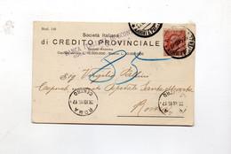 5CRT1052 - BANCA ITALIANA SCONTO , Cartoncino 27.12.1915 Per Roma - Marcofilie