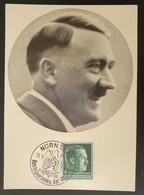 """Deutsches Reich 1938, Postkarte """"Der Führer Adolf Hitler"""" NÜRNBERG Sonderstempel - Covers & Documents"""
