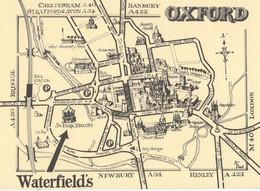 Oxford Waterfield Antique Book Shop Advertising Map Postcard - Werbepostkarten
