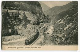Dampfzug,Ferrovia Del Gottardo,Galleria Spirale Del Prato, Ungelaufen - Treni