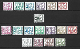 Timbre Belgique  Taxe  En  Neuf ** N 66/71 N 72/82 - Francobolli