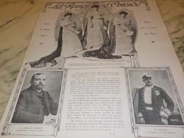 ANCIENNE PUBLICITE  BELGIQUE LES  REINES OSTENDE 1907 - Otros