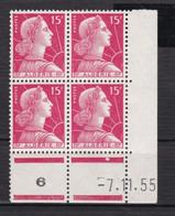 France (ex-colonies & Protectorats) Algérie    Marianne De Muller  15 F    Coin Daté 1955 - Ongebruikt