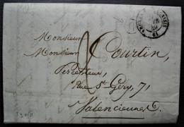 Ardres-en-Calaisis 1849 Pas De Calais Boîte Rurale H, Origine Licques - 1849-1876: Klassik