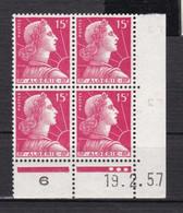 France (ex-colonies & Protectorats) Algérie    Marianne De Muller  15 F    Coin Daté 1957 - Ongebruikt