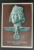 """Deutsches Reich 1938, Postkarte """"Tag Der Deutschen Kunst"""" MÜNCHEN Sonderstempel - Storia Postale"""