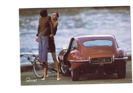 Cpm - Automobile Auto Voiture - Jaguar E Type - Enfant Bicyclette Pin Up Humour, Dingo 1988 - Turismo