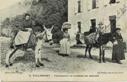 48*Lozère* - Villefort - Paysannes Se Rendant Au Marché - Villefort