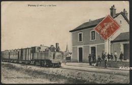 Pernay (I.-et-L.) - La Gare - Cliché-Edition Chevrier - Voir 2 Scans Et Descriptif - Andere Gemeenten