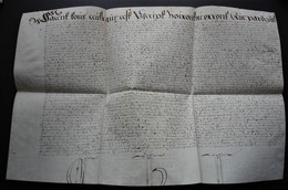 1633 Chirographe De Rombies (Nord) Aujourd'hui Rombies-et-Marchipont à Côté De Valenciennes Pièce Rare (parchemin) ! - Manuscrits