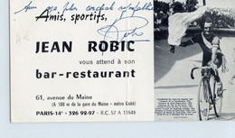 Carte De Visite  Autographe De Robic - Cycling