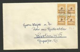 Lettre Briefe / Bloc De 4 - 5 Milliarden / 24.11.1923....inflation - Covers & Documents